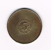 //   GREAT BRITAIN TOKEN VALUE 5 NP VENDING ONLY 1971 - Monétaires/De Nécessité