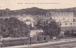 88-Epinal Rue De La Gare-Vue Prise Du Pont Du Chemin De Fer - Epinal
