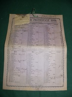 CALENDRIER PROTESTANT 1916 - Calendriers