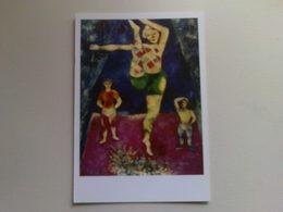 Art  Postcard -  Marc Chagall  -  The Three Acrobats - Paintings