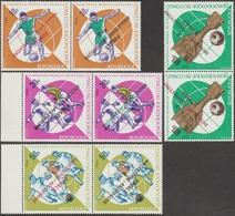 Congo Kin 1966 COB 638/45 Avec Surcharges Renversées. Finale De La Coupe Du Monde De Football, Angleterre-Allemagne - Coupe Du Monde