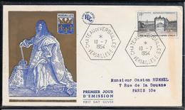 FDC 1954 - 988 Château De Versailles - 1950-1959