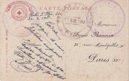 """MAROC : CARTE FM . CROIX ROUGE . DU POSTE """" D'ITZER """" . ( HAUTE MOULOUYA ) . 1918 . - Maroc (1891-1956)"""