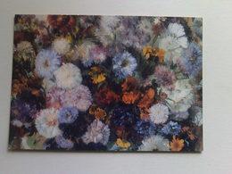 Art  Postcard -  Edgar Degas -  Femme Aux Chrysanthemes - Paintings