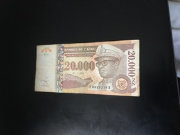 Zaire Used Bank Note 20,000 Value - Zaire