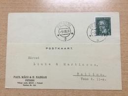 GÄ25672 Estland 1938 Karte Von Petseri Nach Tallinn - Estonia