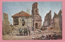 68 - UFFHOLZ - UFFHOLTZ - Farbenphotographie Aus Den Vogesen - Hans HILDENBRAND - Eglise En Ruine - Guerre 14/18 - Frankrijk