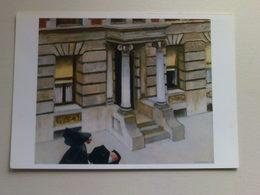 Art  Postcard -  Edward Hopper -  New York Pavements - Paintings