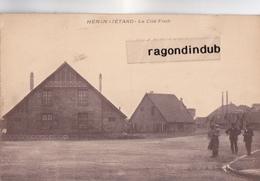 CPA - 62 - HENIN LIETARD - La Cité Foch Vers 1930 - CARTE Sur PLAN RARE - - Other Municipalities