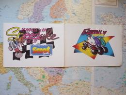 2 Autocollants Je Roule En Speedake Je Lis Scoot Look / Family Scootlook - Autres Collections