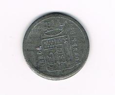 //   OUDE PENNING 1/2 B.F. CONTROLE REGISTRADA  MARCA ( ZUID - AMERICA ) - Monétaires/De Nécessité