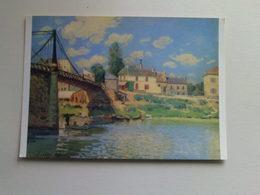Art  Postcard -  Alfred Sisley  -  Le Pont A Villeneuve La Garenne - Paintings