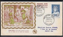 FDC 1954 - 989 Célébrités - Saint Louis - 1950-1959