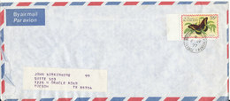 St. Vincent Air Mail Cover 5-7-1977 Single Franked BUTTERFLY (the Cover Is Damaged In The Left Side) - St.Vincent (1979-...)