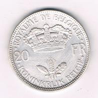 20 FRANCS 1935 FR BELGIE /4226/ - 1934-1945: Leopold III