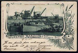 "Mozambique - CPA Lourenco Marquès - Delagoa Bay ""Lighters Discharging At The Customs"" Ecrite En 1905 - B/TB - - Mozambique"