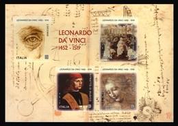 Italia Repubblica 2019 Leonardo Da Vinci Foglietto Euro 4,40 MNH** Integro - 6. 1946-.. República