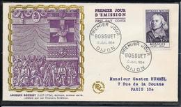 FDC 1954 - 990  Célébrités:  Bossuet - 1950-1959