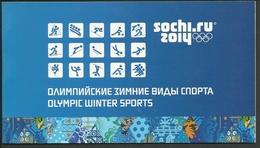 RUSSIE. 2014. Carnet De Prestige. Jeux Olympiques D'hiver à Sotchi. - 1992-.... Fédération