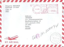 Airmail R Brief  San Isidoro Lima - Bern             1995 - Peru