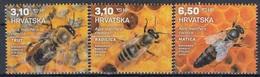 CROATIA 1187-1189,unused,bees - Abeilles