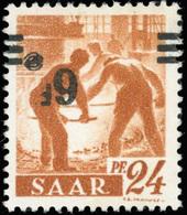 * SAAR. 6Fr. Sur 24p. Brun-orange. Surcharge Renversée. TB.(cote : 0) - Sarre