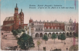 Bt - Cpa Pologne - Polska - KRAKOW - Kosciot Maryacki I Sukiennnice - Pologne
