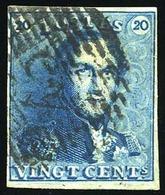 O 20c. Bleu. Obl. Légère. B.(cote : 0) - Belgique