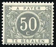 * 50c. Gris. TB.(cote : 210) - Belgique
