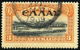 O 3d. Orange Et Noir. Obl. B.(cote : 52) - Crete