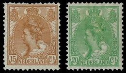 * 15c. Brun Et 20c. Vert. TB.(cote : 270) - Pays-Bas