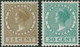 * 35c. Bistre-olive + 50c. Vert-bleu. 2 Valeurs. SUP.(cote : 125) - Pays-Bas
