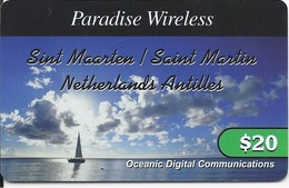 ST. MAARTEN - NETHERLANDS ANTILLES - SAILING AT THE OCEAN - Antille (Olandesi)