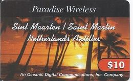 ST. MAARTEN - NETHERLANDS ANTILLES - PALM TREES AT SUNSET - Antilles (Netherlands)