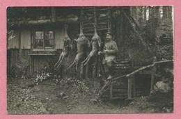 Editeur St. KREUZ - Ste CROIX Aux MINES - Carte Photo - Boucherie Militaire - Soldat Allemand - Guerre 14/18 - Vogesen - Frankrijk