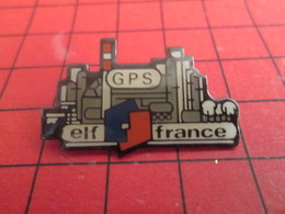 412a Pin's Pins / Beau Et Rare / THEME : CARBURANTS / ELF FRANCE GPS RAFFINERIE PETROLIERE - Carburants