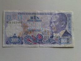 Turkey 1000 Bin Turk Lirasi  Banknote Date 1970 - Turkey