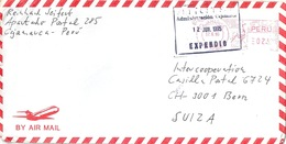 Airmail Brief  Cajamarca - Bern           1995 - Peru