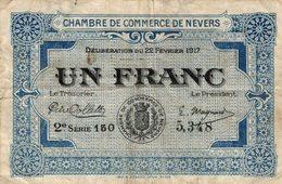6940-2019    BILLET CHAMBRE DE COMMERCE  DE NEVERS - Chamber Of Commerce