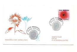 2005 - San Marino 2085 Dalia - FDC - Flora