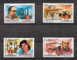 Cuba 2019 55th Anniversary Of Musical Recording And Edition(EGREM) 4v MNH - Cuba