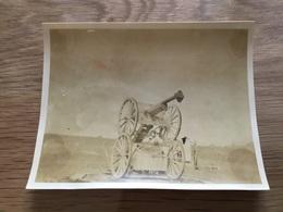 Photo D'un Canon De 75 à Aix Noulette 10,5 X 8 Cm 1914-1918 - 1914-18