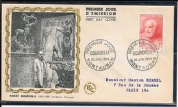 FDC 1954 - 992 Célébrités: André Bourdelle - 1950-1959