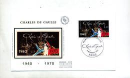 Lettre Fdc 1980 Paris De Gaulle - FDC