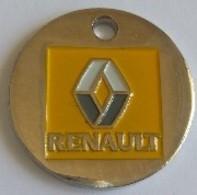 Jeton De Caddie - RENAULT - CAR-BOX - Automobiles - OBERHOFFEN (67) - En Métal - Neuf - - Jetons De Caddies