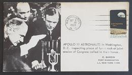 1969 Cover, FDC, Apollo 11 Astronauts, Washington, United States, USA - Vereinigte Staaten