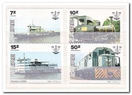 Zaïre 1985, Postfris MNH, Boats, Trains - 1980-89: Ongebruikt