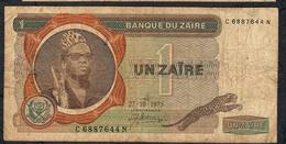 ZAIRE P18d 1 ZAIRE 27.10.1975 FINE 2 P.h. - Zaire