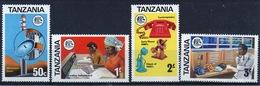 Tanzania Set Of Stamps From 1976 To Celebrate Telecommunications. - Tanzania (1964-...)