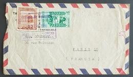 1956 Cover, Caracas Venezuela - Paris France - Venezuela